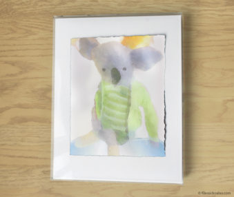 Magic Koalas Watercolor Pastel Painting 11-by-14 Inch Frame 25