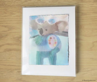 Magic Koalas Watercolor Pastel Painting 11-by-14 Inch Frame 28
