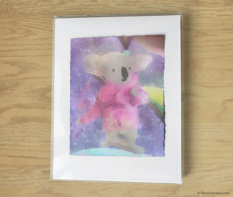 Magic Koalas Watercolor Pastel Painting 11-by-14 Inch Frame 29