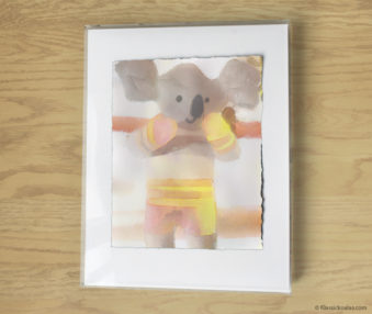 Magic Koalas Watercolor Pastel Painting 11-by-14 Inch Frame 30