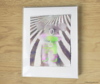 Magic Koalas Watercolor Pastel Painting 11-by-14 Inch Frame 33