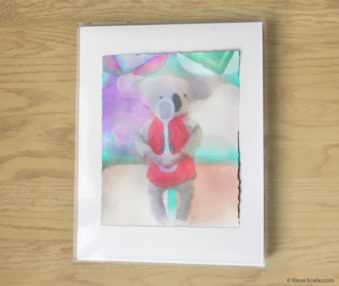 Magic Koalas Watercolor Pastel Painting 11-by-14 Inch Frame 35