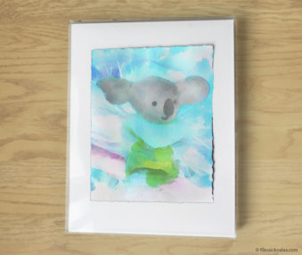 Magic Koalas Watercolor Pastel Painting 11-by-14 Inch Frame 36