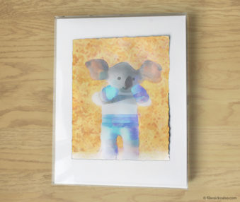 Magic Koalas Watercolor Pastel Painting 11-by-14 Inch Frame 37