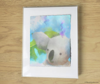 Magic Koalas Watercolor Pastel Painting 11-by-14 Inch Frame 39