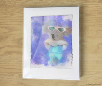 Magic Koalas Watercolor Pastel Painting 11-by-14 Inch Frame 41