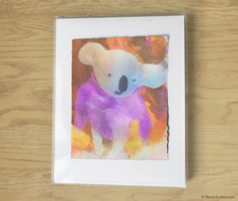 Magic Koalas Watercolor Pastel Painting 11-by-14 Inch Frame 42