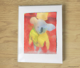 Magic Koalas Watercolor Pastel Painting 11-by-14 Inch Frame 43