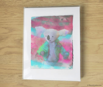 Magic Koalas Watercolor Pastel Painting 11-by-14 Inch Frame 45