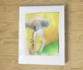 Magic Koalas Watercolor Pastel Painting 11-by-14 Inch Frame 46