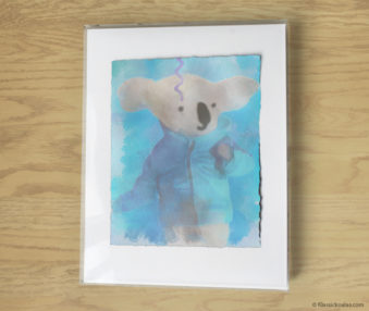 Magic Koalas Watercolor Pastel Painting 11-by-14 Inch Frame 47
