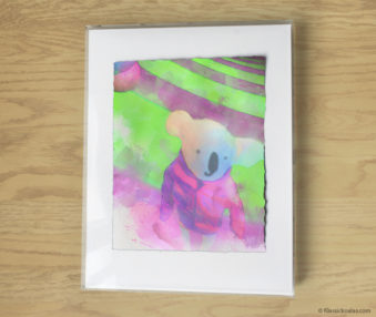 Magic Koalas Watercolor Pastel Painting 11-by-14 Inch Frame 48