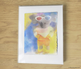Magic Koalas Watercolor Pastel Painting 11-by-14 Inch Frame 49