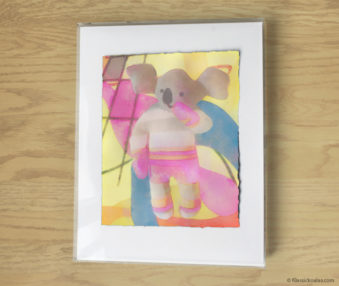 Magic Koalas Watercolor Pastel Painting 11-by-14 Inch Frame 5