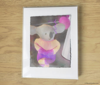 Magic Koalas Watercolor Pastel Painting 11-by-14 Inch Frame 51
