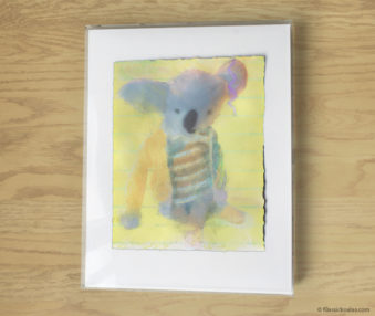 Magic Koalas Watercolor Pastel Painting 11-by-14 Inch Frame 52