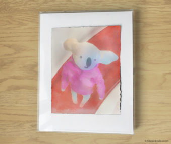 Magic Koalas Watercolor Pastel Painting 11-by-14 Inch Frame 54
