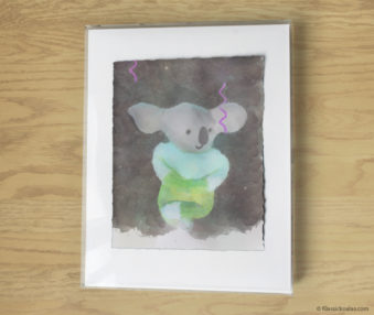 Magic Koalas Watercolor Pastel Painting 11-by-14 Inch Frame 56