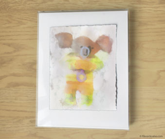 Magic Koalas Watercolor Pastel Painting 11-by-14 Inch Frame 57