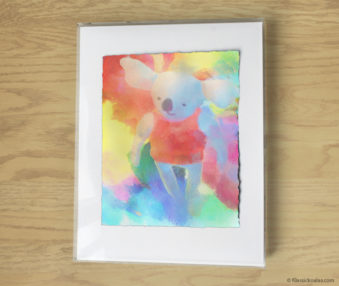 Magic Koalas Watercolor Pastel Painting 11-by-14 Inch Frame 58