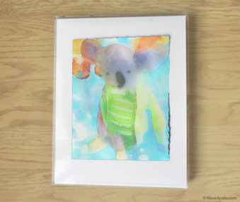 Magic Koalas Watercolor Pastel Painting 11-by-14 Inch Frame 59