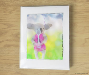 Magic Koalas Watercolor Pastel Painting 11-by-14 Inch Frame 62