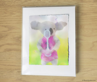 Magic Koalas Watercolor Pastel Painting 11-by-14 Inch Frame 63