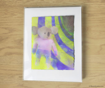 Magic Koalas Watercolor Pastel Painting 11-by-14 Inch Frame 65