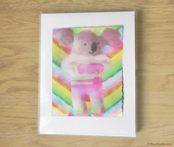 Magic Koalas Watercolor Pastel Painting 11-by-14 Inch Frame 66