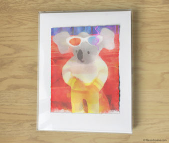 Magic Koalas Watercolor Pastel Painting 11-by-14 Inch Frame 67
