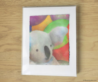 Magic Koalas Watercolor Pastel Painting 11-by-14 Inch Frame 69