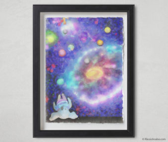 Magic Koalas Watercolor Pastel Painting 12-by-16 Inch Black Frame 44
