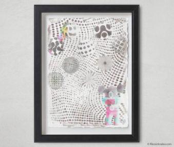 Magic Koalas Watercolor Pastel Painting 12-by-16 Inch Black Frame 50