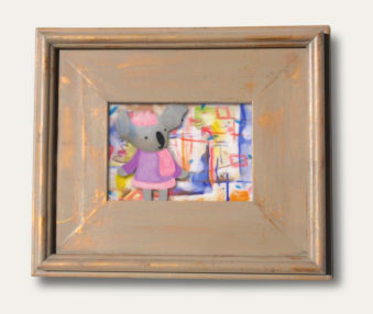 Modern Art Koalas Classic Painting 8-by-10 Inch Driftwood Color Gallery Frame 1