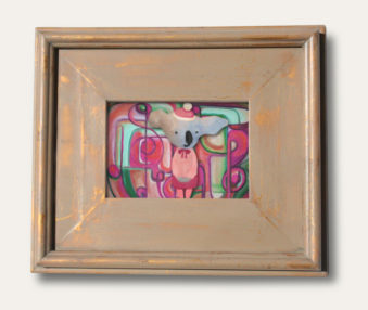 Modern Art Koalas Classic Painting 8-by-10 Inch Driftwood Color Gallery Frame 6