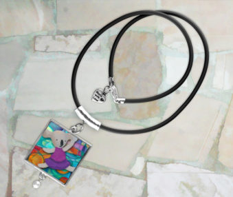 Modern Art Koalas Necklace 1