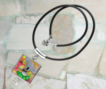 Modern Art Koalas Necklace 4