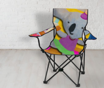 Pop Art Koalas App Icon Beach Chair