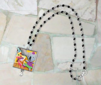 Pop Art Koalas App Icon Necklace