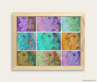 Pop Art Koalas Encaustic Painting 8-by-10 Inch Frame 10