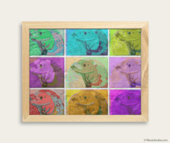 Pop Art Koalas Encaustic Painting 8-by-10 Inch Frame 11
