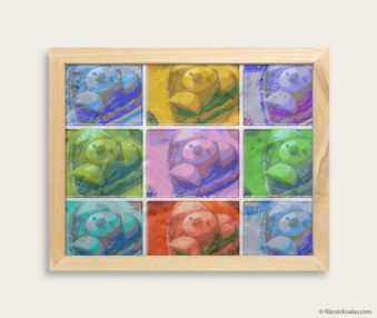 Pop Art Koalas Encaustic Painting 8-by-10 Inch Frame 12
