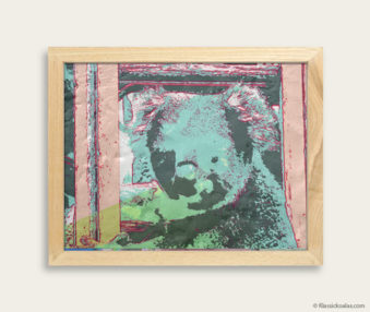 Pop Art Koalas Encaustic Painting 8-by-10 Inch Frame 19