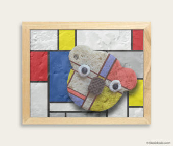 Pop Art Koalas Encaustic Painting 8-by-10 Inch Frame 25