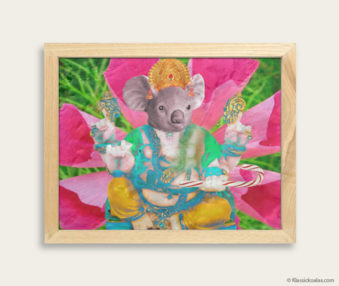 Pop Art Koalas Encaustic Painting 8-by-10 Inch Frame 26