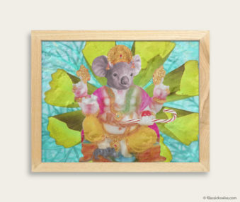 Pop Art Koalas Encaustic Painting 8-by-10 Inch Frame 27