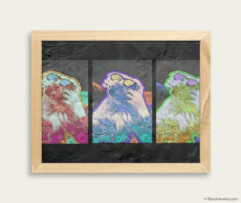 Pop Art Koalas Encaustic Painting 8-by-10 Inch Frame 35