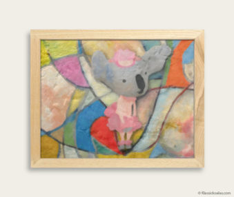 Pop Art Koalas Encaustic Painting 8-by-10 Inch Frame 40