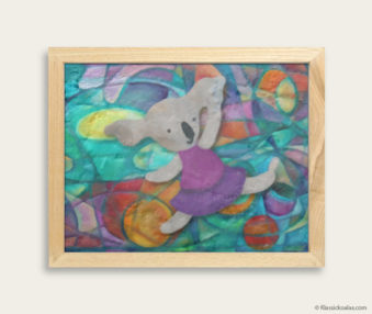 Pop Art Koalas Encaustic Painting 8-by-10 Inch Frame 42