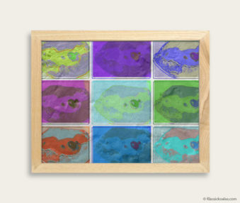Pop Art Koalas Encaustic Painting 8-by-10 Inch Frame 6